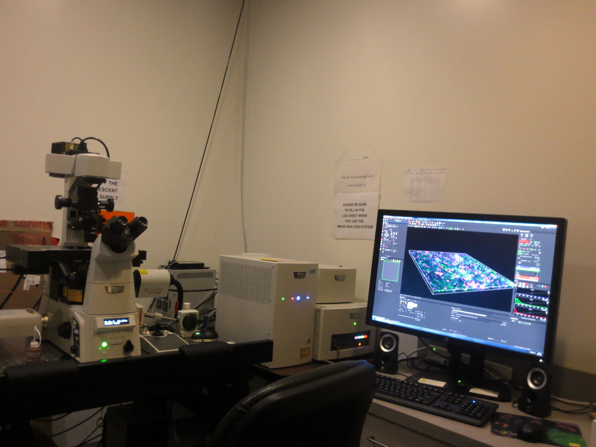 Our latest Nikon Ti series confocal microscopy with motorized stage and live cell imaging