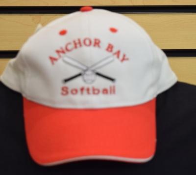 White Softball Hat $12