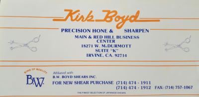kIRK  bOYD MASTER SHARPNER