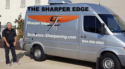 scissors sharpening mobile service van