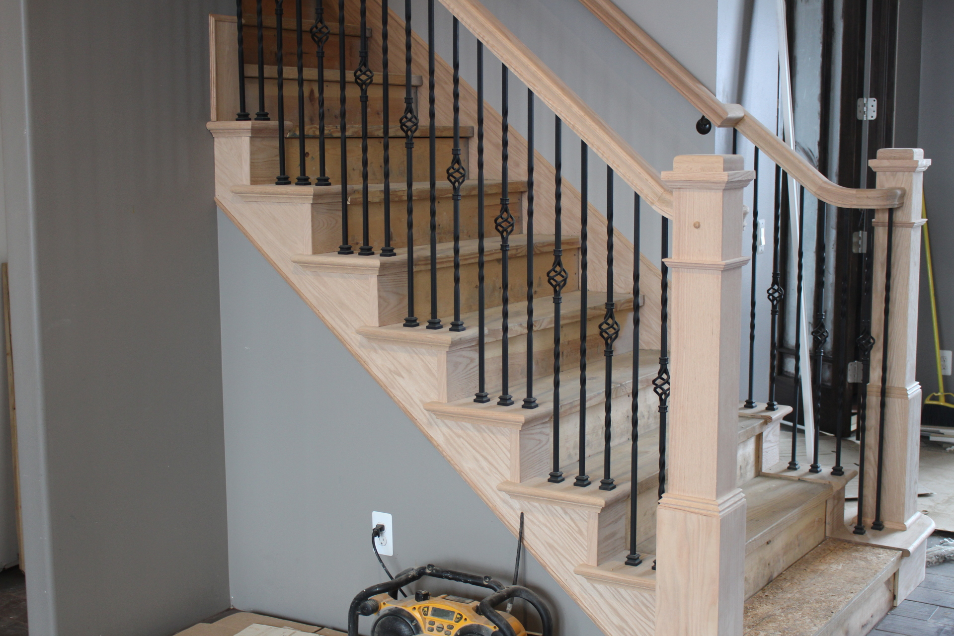 Custom handrails with false ends