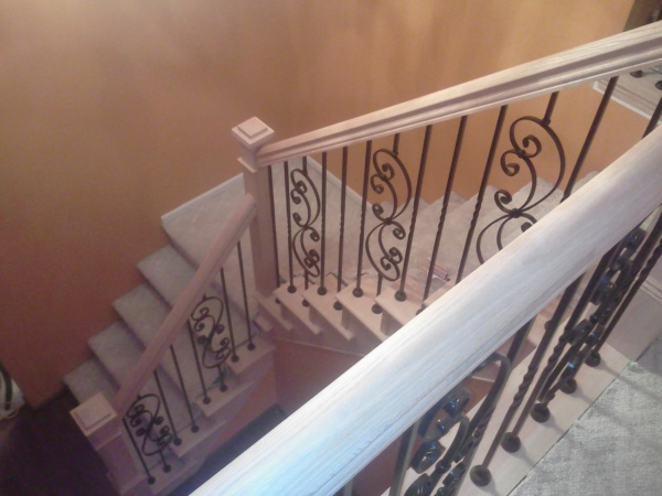 Custom handrails and iron balusters