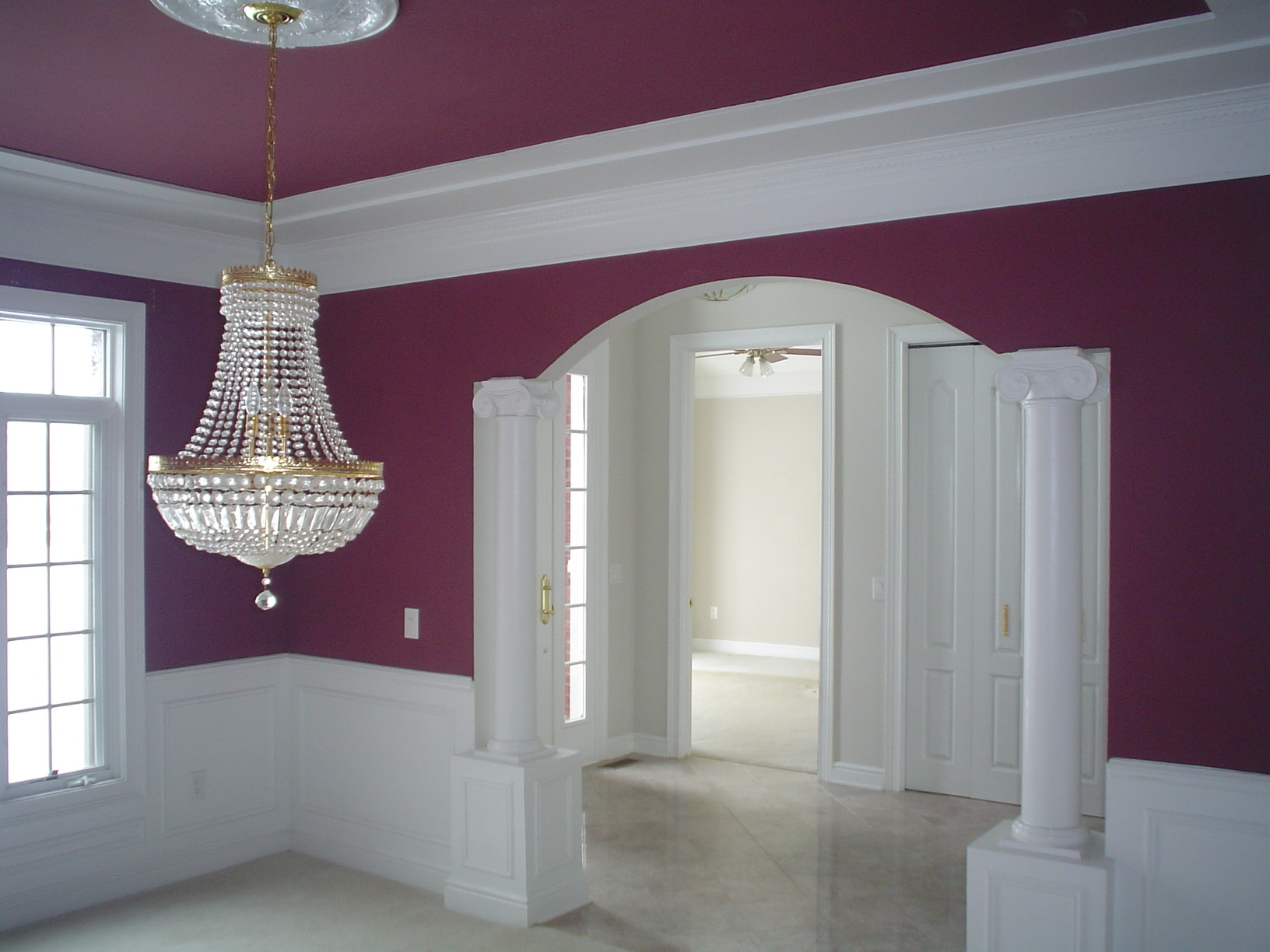 Door installation, Crown Molding, Wainscoting, Handrails,