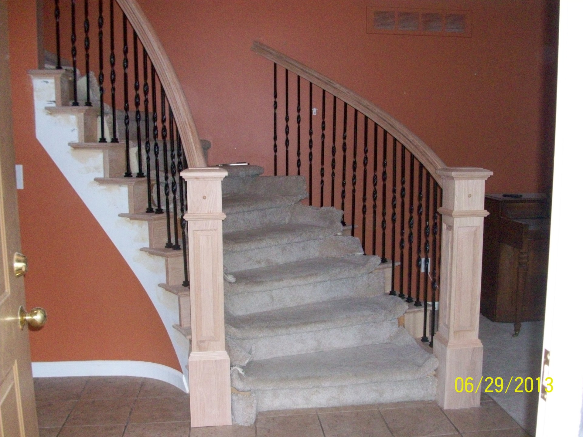 Custom Hand Rail and Stairs Installation