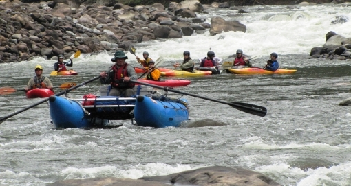 Whitewater rafting expedition
