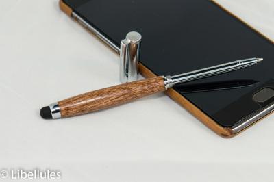 "<img alt=""sapele wood mini stylus and cross pen"">"