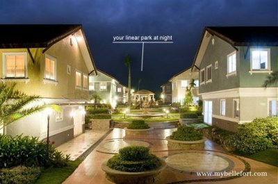 The Linear Park at Night Bellefort Estates Molino Bacoor House and lot for sale in cavite