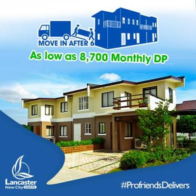 Alice Townhouse in Lancaster New City Cavite House and Lot move in after 6 months