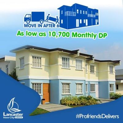Anica Townhouse in Lancaster New City Cavite House and Lot move in after 6 months