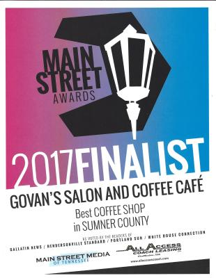 2017 Finalist BEST COFFEE SHOP