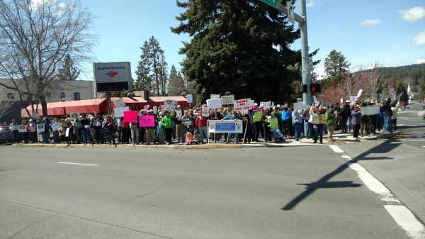 """""""Show Us Your Taxes!""""   Rally at Peace Corner, April 15, 2017"""
