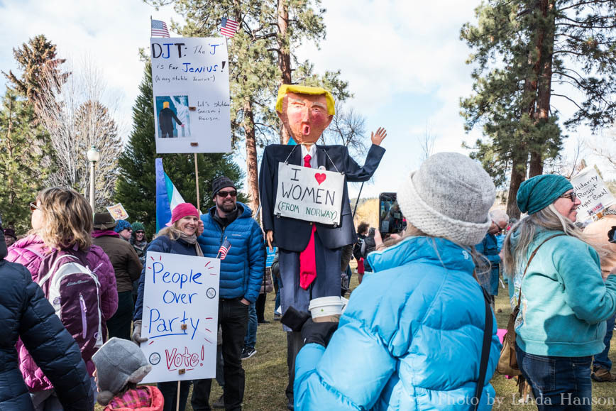The Donald left Peace Corner to join us at the 2018 Central Oregon Women's March for Action