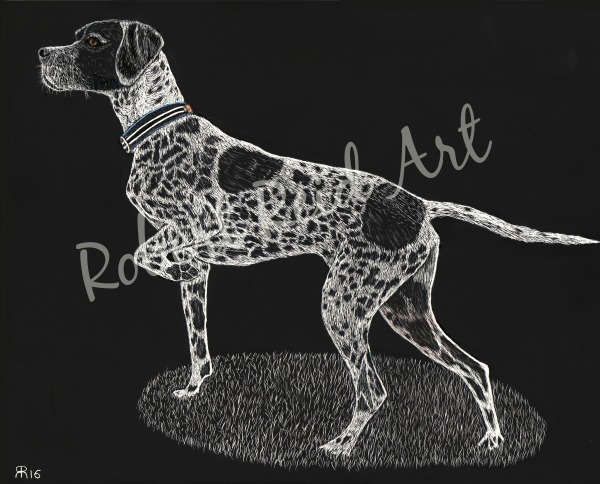 """""""Chase – Pointer Stance"""" - SOLD"""