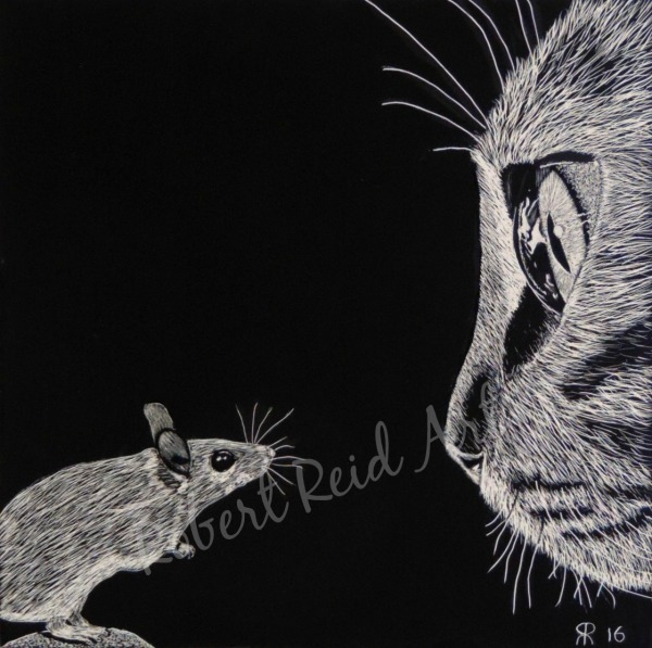 """""""Cat and Mouse"""" - SOLD"""