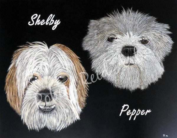 """""""Shelby & Pepper"""" - SOLD"""