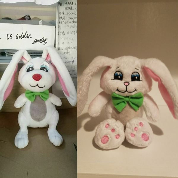 Evolution of Peek-a-Bunny