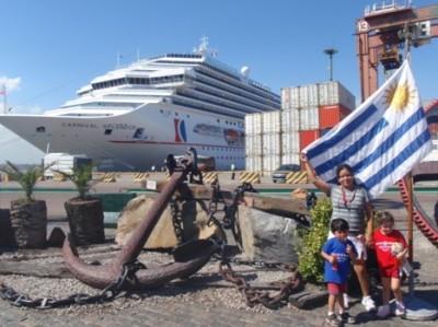 Arriving on Carnival Splendor to Montevideo, Uruguay