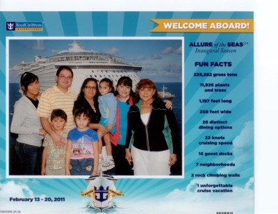 About to board the Largest Cruise Ship in the World!