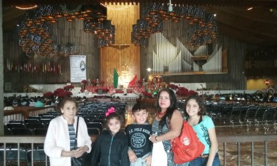 Inside the Basilica of Guadalupe