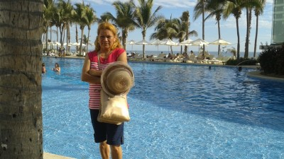 My sister in-law at The Mayan Palace