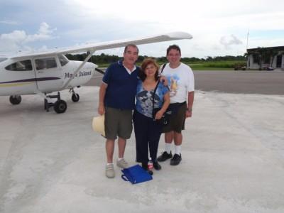 Flying to San Pedro, Belize