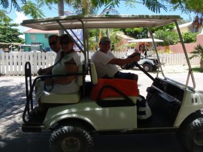 Golf-cart rental in San Pedro, Belize!