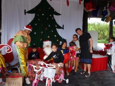 Santa brought my kids bikes at Vidanta!