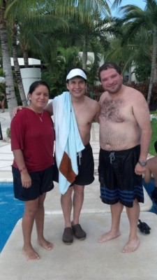 Look who we were swimming with! Gilberto Gless
