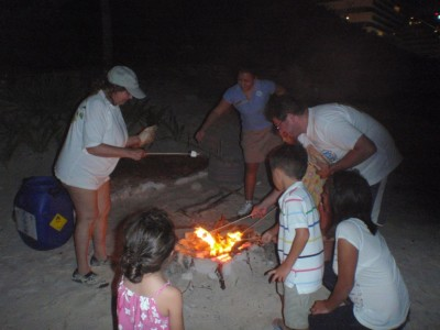 Marshmallow time at the beach!