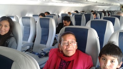 Flying with my mother-in-law Imelda (RIP) to Cancún!