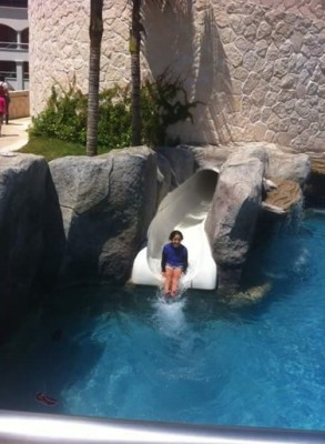 Water-sliding at Hard Rock!