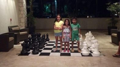 Playing Giant Chess at The Westin