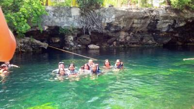 Cenote Cristalino, snorkeling