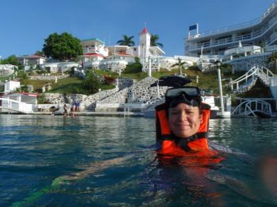 Snorkeling at the lagoon of Bacalar!