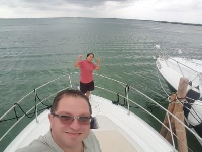 Yachting through the lagoon Nichupté