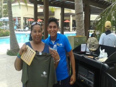 Bingo prize winner, family quality time!