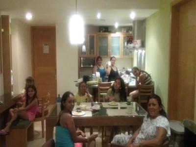 Breakfast at the villa!