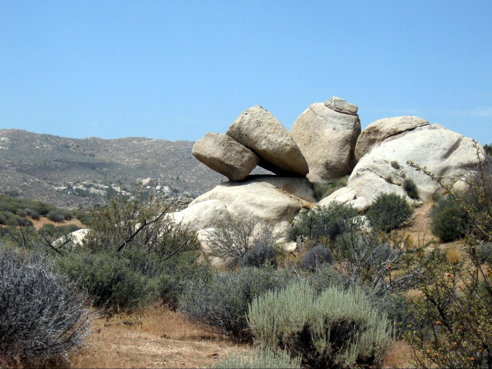 tilting rock formation in Juniper Flats