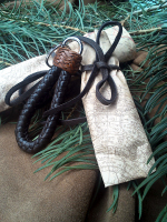Braided key fob wrapped