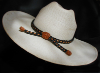 Deer leather hat band