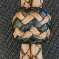 Deer leather slide knot