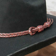 Cowboy hat with lariat loop