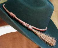 Herringbone ridge braid hatband
