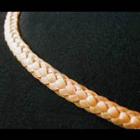 Ridge braid leather hatband