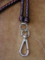 Custom braided leather lanyards