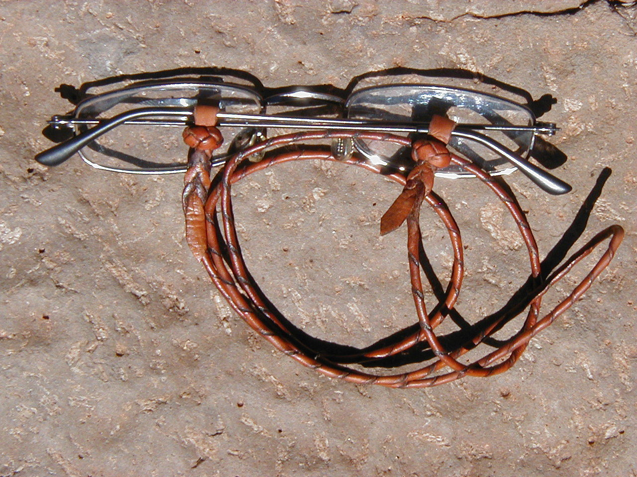 Eye-glass Leather Lanyards