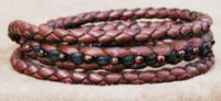 Triple leather braided wrap bracelets