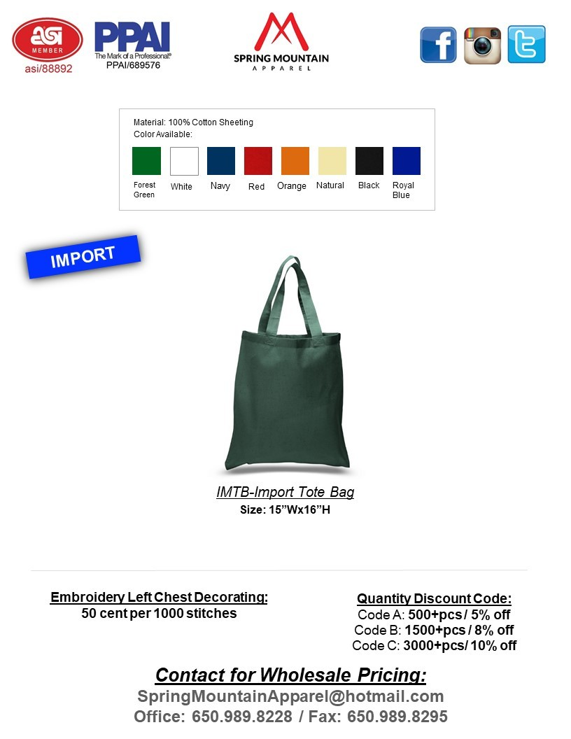 IMTB-IMPORT TOTE BAG