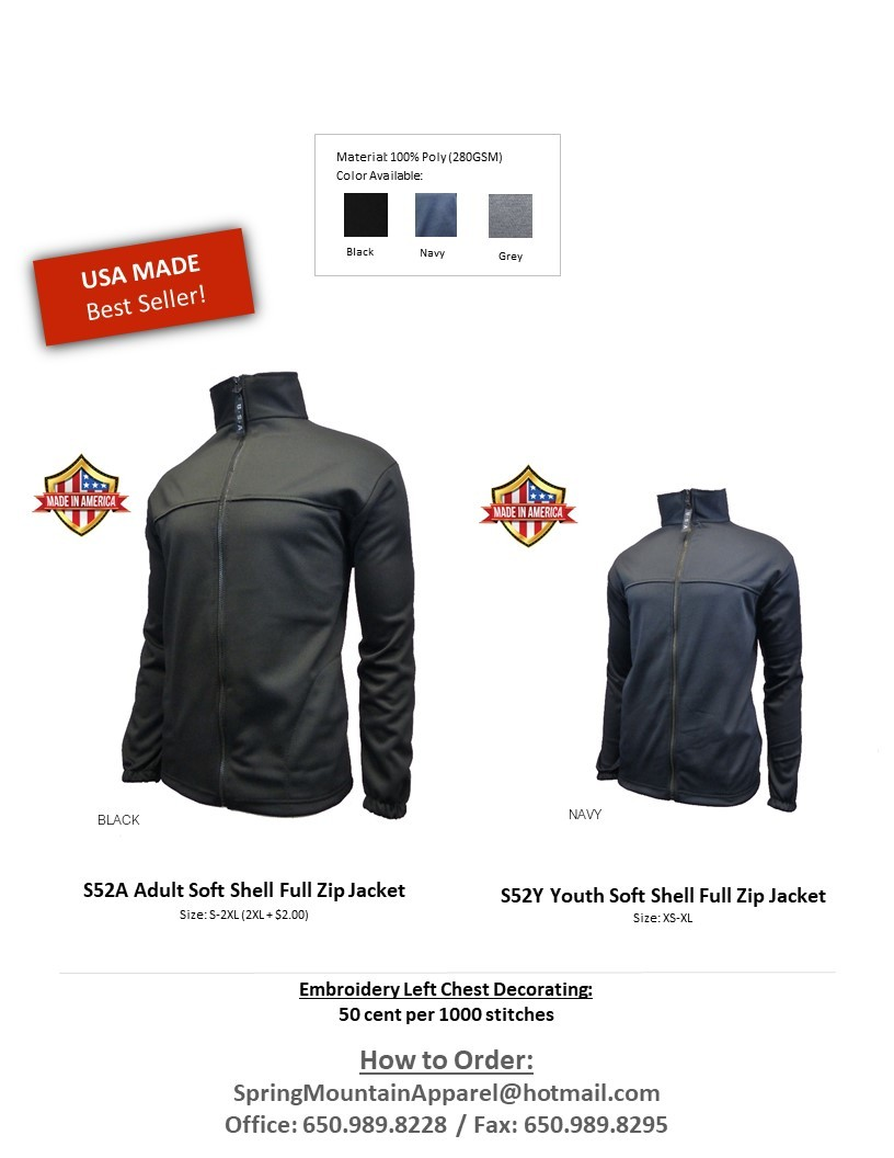 S52A - Thermo Soft Shell Full Zip Jacket