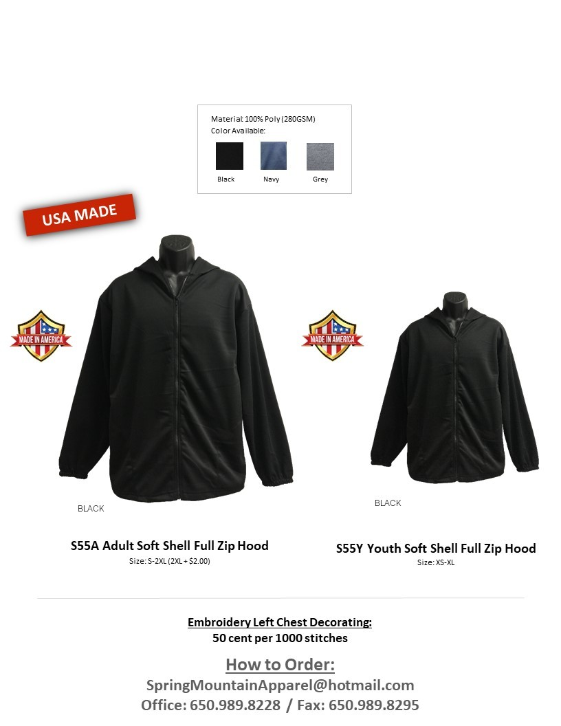 S55A-Thermo Soft Shell Full Zip Hood Jacket